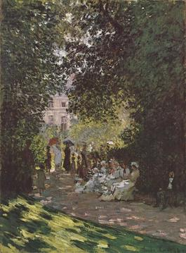 Parisians Enjoying the Parc Monceau (No Text)