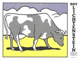 Cow Going Abstract Triptych