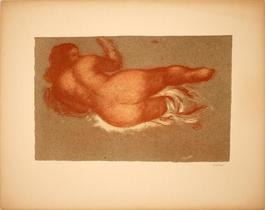 Jeune Femme Couchee sur le dos, une Jambe Levee