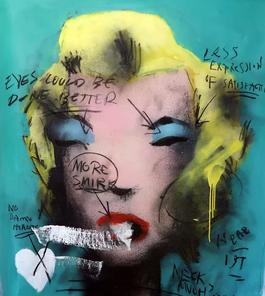 UNTITLED FROM MARILYN MONROE 1967, Homage to Andy Warhol (Teal)