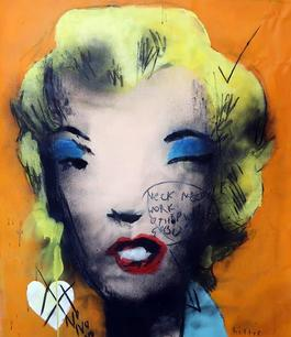 UNTITLED FROM MARILYN MONROE 1967, Homage to Andy Warhol (Orange)