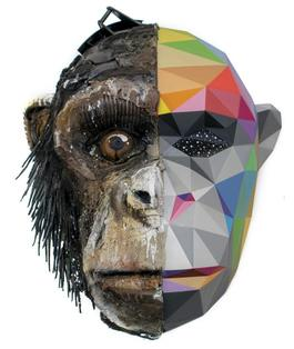 Okuda x​Bordalo II: Monkey