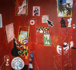HE DESERT: HARMONY IN RED 1908 / Homage to Henri Matisse