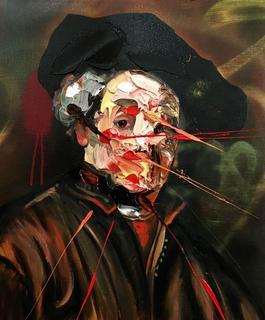 After Rembrandt Self Portrait