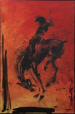 Horse & Rider - Red