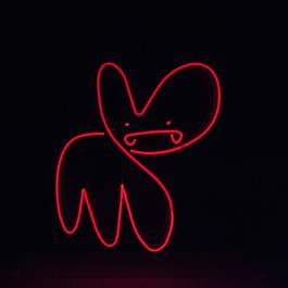 Infinite neon bunny red