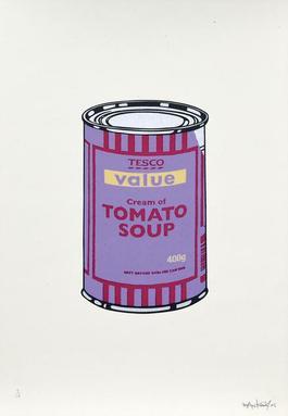 Soup Cans. Violet Cherry Beige