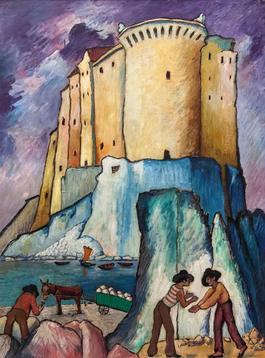 Castello sul Mediterraneo in Italia