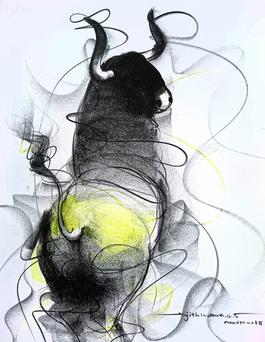 Bull Drawing - 601