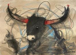 Bull Drawing - 655