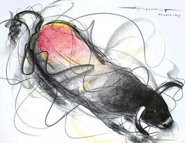 Bull Drawing - 608