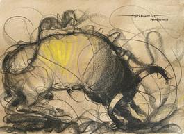 Bull Drawing - 656