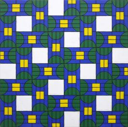 Untitled (Square colored chart 3)