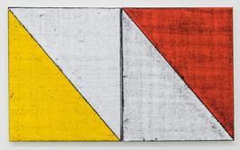 Untitled (Colored Borders, Diagonal Line II)