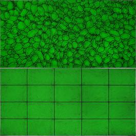 Untitled (all I see are light patterns in green/elements)