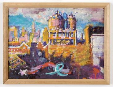 Untitled (rooftop / water towers)