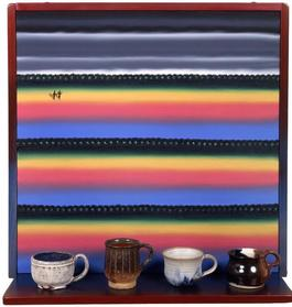 Virtual Still Life #17: Cups With Handles And Desert Landscape