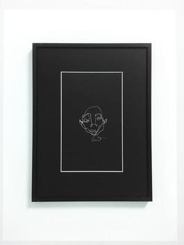 Blind drawing (black) VII