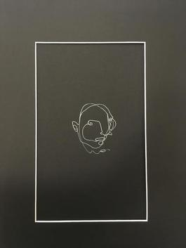 Blind drawing (black) I