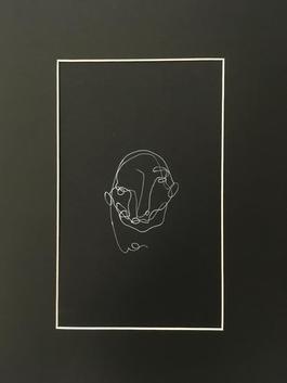 Blind drawing (black) II