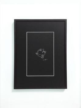 Blind drawing (black) VI