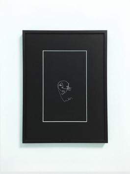 Blind drawing (black) III