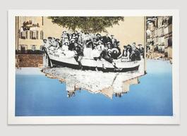 Unframed, Un Groupe Posant Dans Une Barque Amarree Sur La Plage Revu Par JR, Marseille Vers 1930, Marseille, France, 2013 *