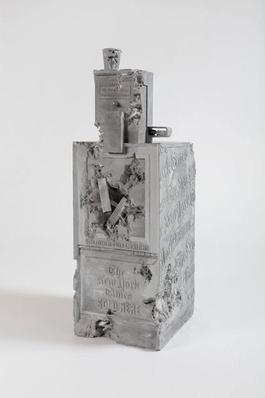 Grey Selenite Newspaper Machine