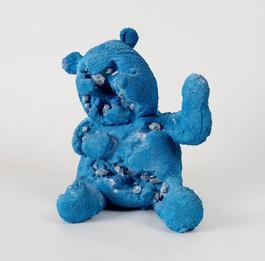 Blue Calcite Eroded Bear