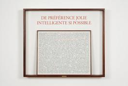 De preference jolie Intelligente si possible