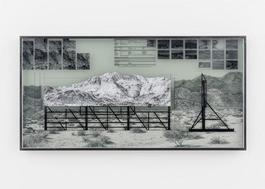 Giants, Death Valley, Billboard, Work in progress #1, California, USA