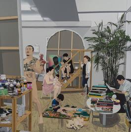 Painter and Family / 畫家和家庭