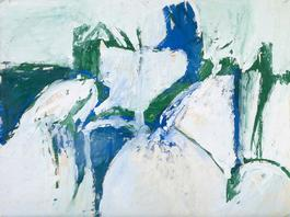 Untitled (Blue, Green, and White)
