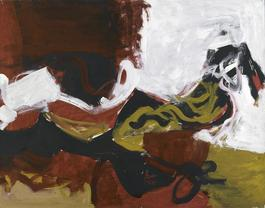 Untitled (Black, White, Red, and Brown III)