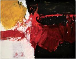 Untitled (Black, White, Red, and Brown)