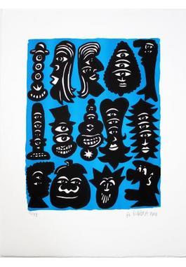 Figure Bleue