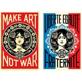 Pack Make Art Not War + Liberte Egalite Fraternite