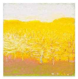 Yellow Square with Trees