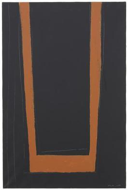 Open No. 146: Umber on Black