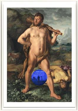 Gazing Ball (Goltzius Hercules and Cacus)