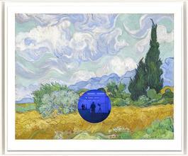 Gazing Ball (van Gogh Wheatfield with Cypresses)