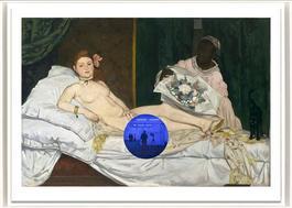 Gazing Ball (Manet Olympia)