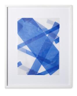 Faltungen Blau