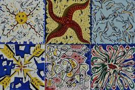 La Suite Catalne Set of 6 Dali Tiles