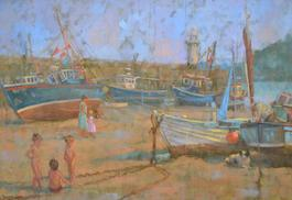 Children Playing St Ives Harbour