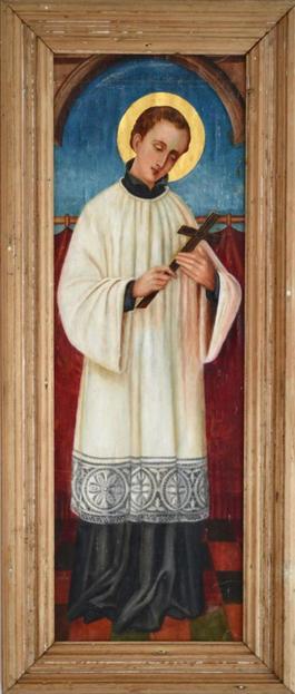 Full Length Portrait Of A Saint Circa 1800