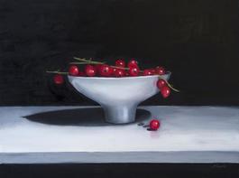 Redcurrants in a Ceramic Bowl