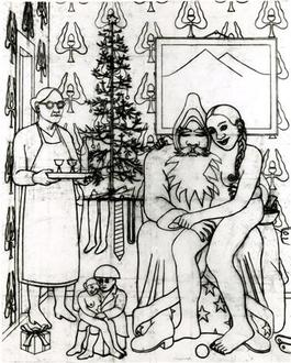 Dessin pour Noël à la maison