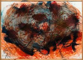 Rote Fingerschmiere (Hand und Fingermalerei)