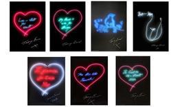 Set of Seven Neon Prints